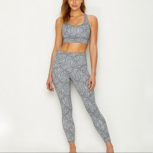 Onzie Jet Animal Print Sports Bra and Legging Set
